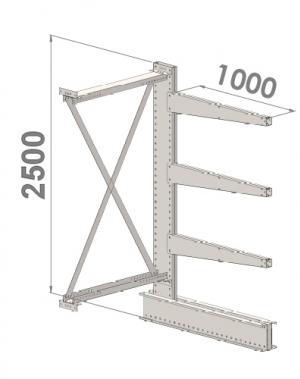 Add On bay 2500x1000x1000,4 levels