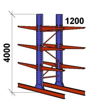 Konsoolriiul põhiosa 4000x1500x2x1200,4 korrust