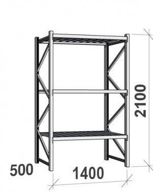 Laoriiul põhiosa 2100x1400x500 600kg/tasapind,3 tsinkplekk tasapinda