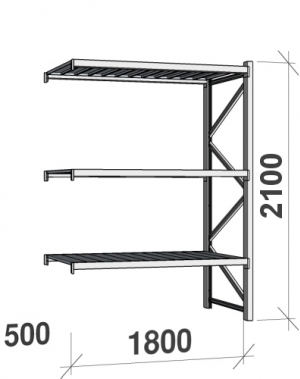 Laoriiul jätkuosa 2100x1800x500  480kg/tasapind,3 tsinkplekk tasapinda
