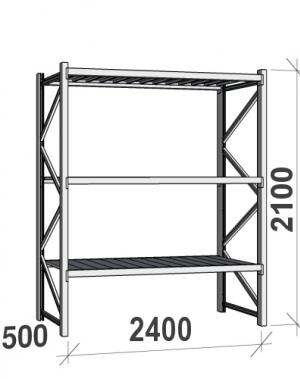 Laoriiul põhiosa 2100x2400x500 300kg/tasapind,3 tsinkplekk tasapinda
