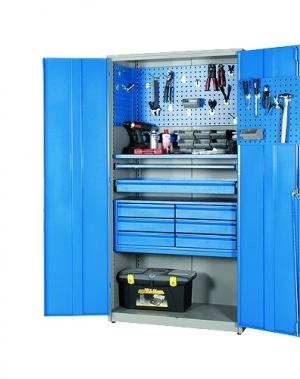 Metallkapp tööriistadele 2000x1020x540 RAL 7035/5010