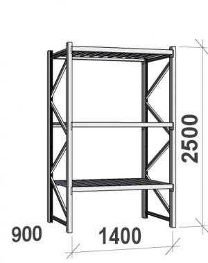 Laoriiul põhiosa 2500x1400x900 600kg/tasapind,3 tsinkplekk tasapinda