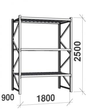 Laoriiul põhiosa 2500x1800x900 480kg/tasapind,3 tsinkplekk tasapinda