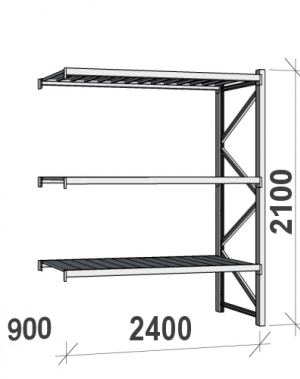 Laoriiul jätkuosa 2100x2400x900 300kg/tasapind,3 tsinkplekk tasapinda