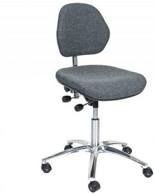 ESD Töötool Office polsterdatud kangaga, kõrgus 500-630 mm