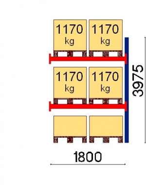 Kaubaaluse riiul lisaosa 3975x1800 1170kg/alus,6 alust