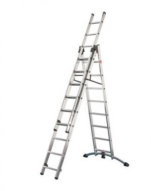 The versatile universal household ladder 2x9+8 steps