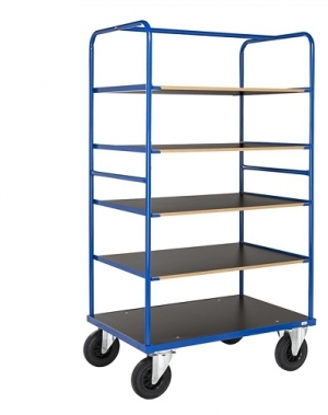 Shelf trolley 5 shelves 1000x700x1800mm, 500kg