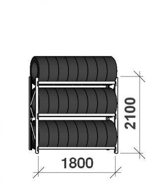 Rehviriiul, põhiosa 2100x1800x500, 3 korrust, 480kg/tasapind