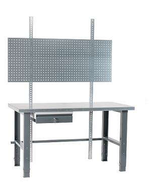 Töölaud 2000x800 + sahtli, perfoseina ja värvitud jalgadega