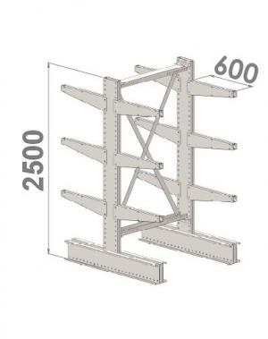 Grenställ startsektion 2500x1500x2x600,12 x arm