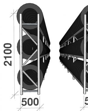 Rehviriiul 40-jalasesse konteinerisse 288 rehvi
