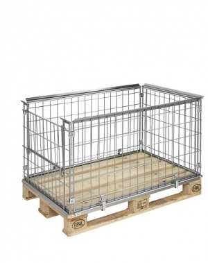 Pallet cage 1220x820x640 opening short side