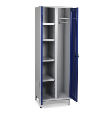 Storage Cabinet with 4 shelves and hanging rod 1900x1000x545