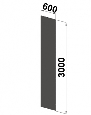 Küljeplekk 3000x600