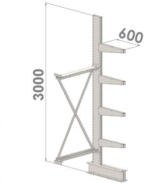 Add On bay 3000x1500x600,5 levels