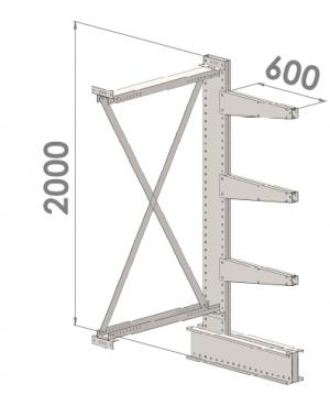 Konsoolriiul lisaosa 2000x1500x600,4 korrust