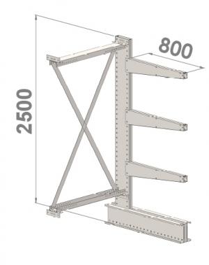 Add On bay 2500x1500x800,4 levels