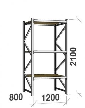 Laoriiul põhiosa 2100x1200x800 600kg/tasapind,3 PLP tasapinda