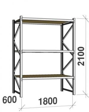 Laoriiul põhiosa 2100x1800x600 480kg/tasapind,3 PLP tasapinda