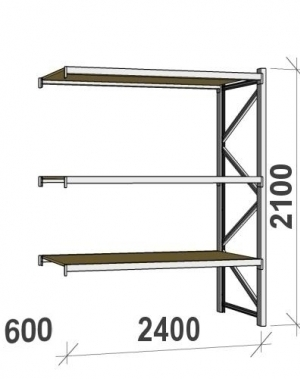 Laoriiul jätkuosa 2100x2400x600 300kg/tasapind,3 PLP tasapinda