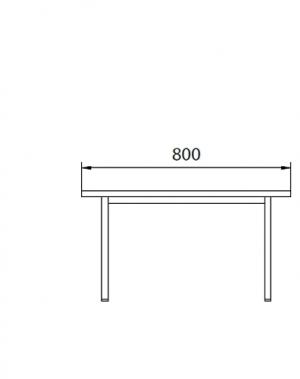 Metallbänk 800x290x420