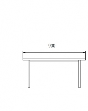 Metallbänk 900x290x420