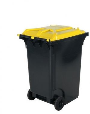 Prügikonteiner 360, kollase kaanega