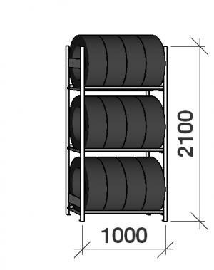 Rehviriiul põhiosa 2100x1000x500,3 korrust