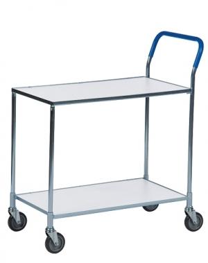 Shelf trolley, galv/white 850x435x950mm, 150kg