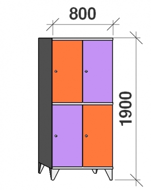 Sektsioonkapp, 4 ust, 1900x800x545 mm
