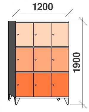 Sektsioonkapp, 9 ust, 1900x1200x545 mm