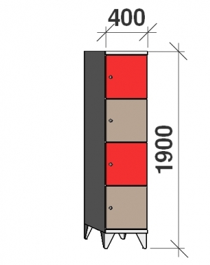 Sektsioonkapp, 4 ust, 1900x400x545 mm