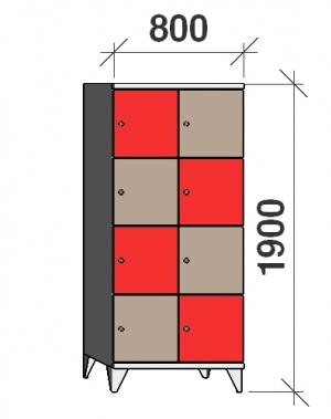 Sektsioonkapp, 8 ust, 1900x800x545 mm