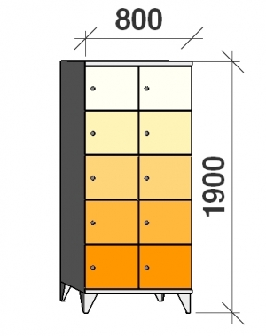 Sektsioonkapp, 10 ust, 1900x800x545 mm