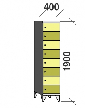 Sektsioonkapp, 8 ust, 1900x400x545 mm