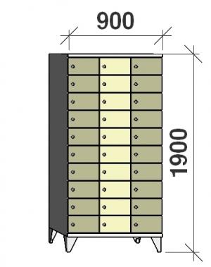 Sektsioonkapp, 30 ust, 1900x900x545 mm