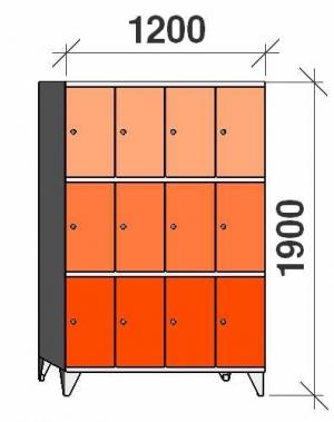 Sektsioonkapp, 12 ust, 1900x1200x545 mm