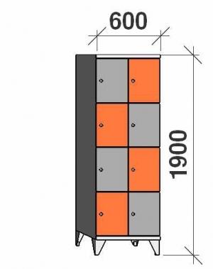 Sektsioonkapp, 8 ust, 1900x600x545 mm
