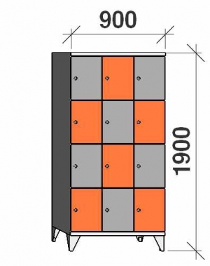 Sektsioonkapp, 12 ust, 1900x900x545 mm