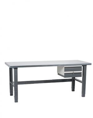 Töölaud 2000x800 kaheosalise sahtliga, värvitud jalad