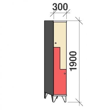 Z-kapp 1900x300x545, 2 ust