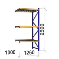 Lisaosa 2500x1260x1000 450kg/tasapind, 3 tsinkplekk tasapinda