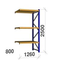Lisaosa 2500x1260x800 450kg/tasapind, 3 puitlaastplaadist tasapinda