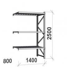Laoriiul jätkuosa 2500x1400x800 600kg/tasapind,3 tsinkplekk tasapinda