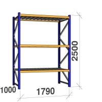 Põhiosa 2500x1790x1000 360kg/tasapind, 3 tsinkplekk tasapinda