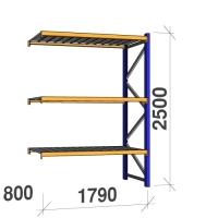 Lisaosa 2500x1790x800 360kg/tasapind, 3 tsinkplekk tasapinda