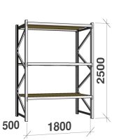 Starter bay 2500x1800x500 480kg/level,3 levels with chipboard