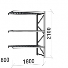 Maxi extension bay 2100x1800x800 480kg/level,3 levels with steel decks